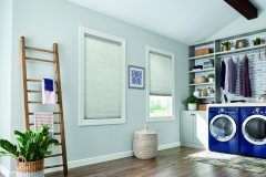 """3/8"""" Single Cell Cellular Shades with Cordless Lift: Endeavor, Elegant Dove 5816"""