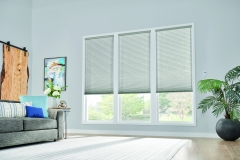 """3/4"""" Single Cell Cellular Shades with Motorized Lift: Couture, Noble Pewter 0133"""