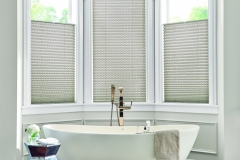 """1"""" Bottom Up/Top Down Pleated Shades with Cordless Lift: Eloquence, Elegant Taupe 2760"""