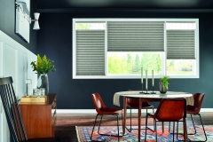"""2"""" Pleated Shades with Bottom Up/Top Down and Cordless Lift: Debonair, Haberdasher Gray 3220 with Liner"""