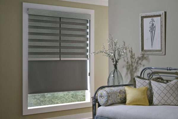 allure_couplitare double shade with tandem roller shade behind